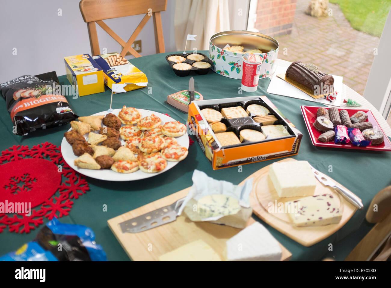 Christmas Buffet Table Lunch Gluten Free Coeliac Stock