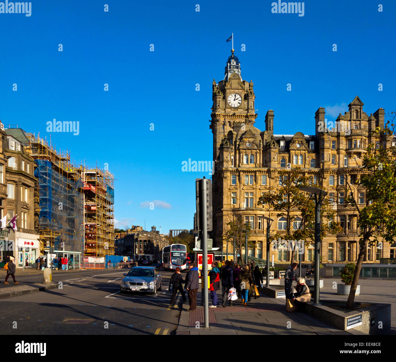Old Waverley Hotel On Princes Street The Main Shopping Street In Stock Photo Royalty Free Image