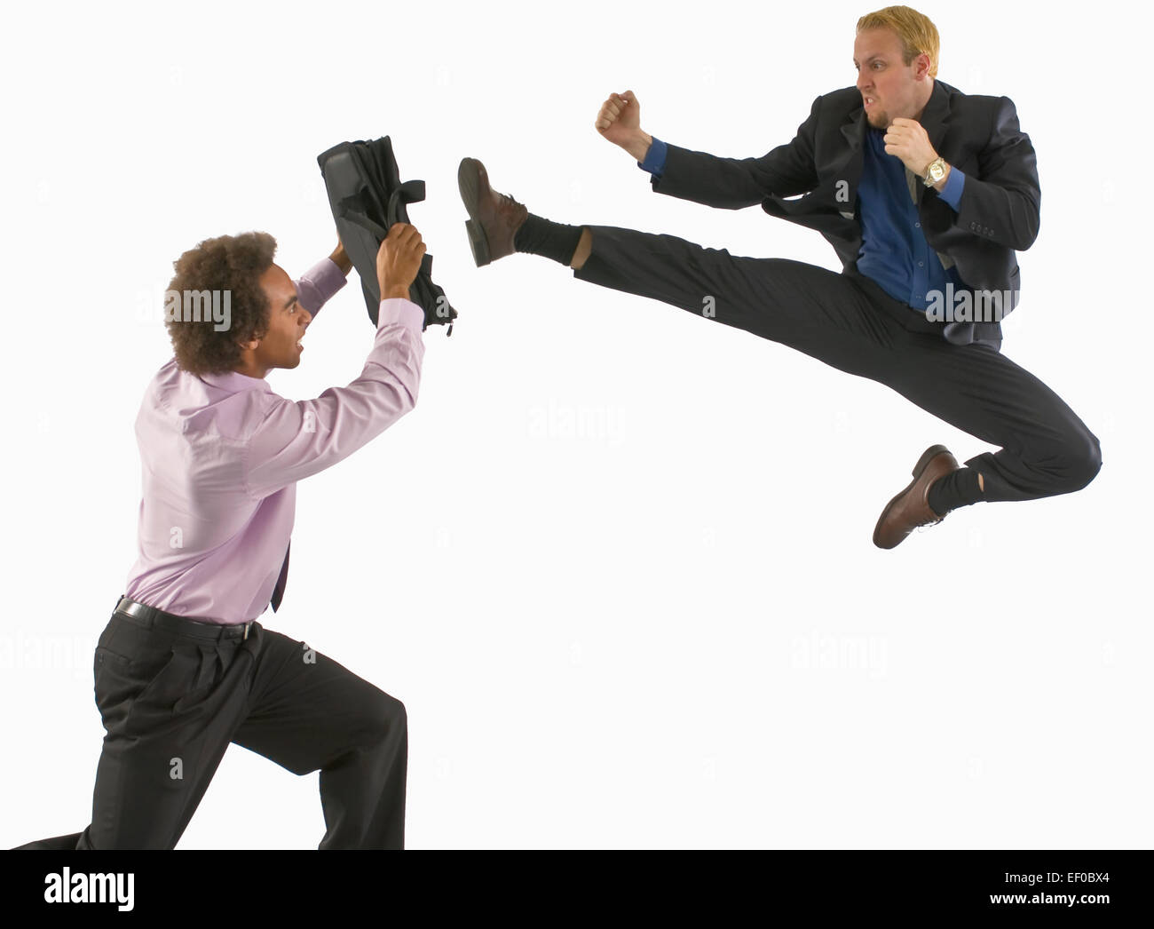 Two Business People Fighting Stock Photo Royalty Free