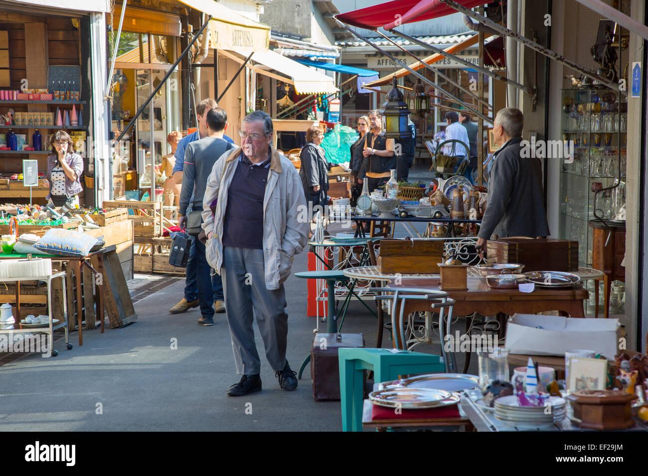 march aux puces de saint ouen the world famous flea market paris stock photo royalty free. Black Bedroom Furniture Sets. Home Design Ideas