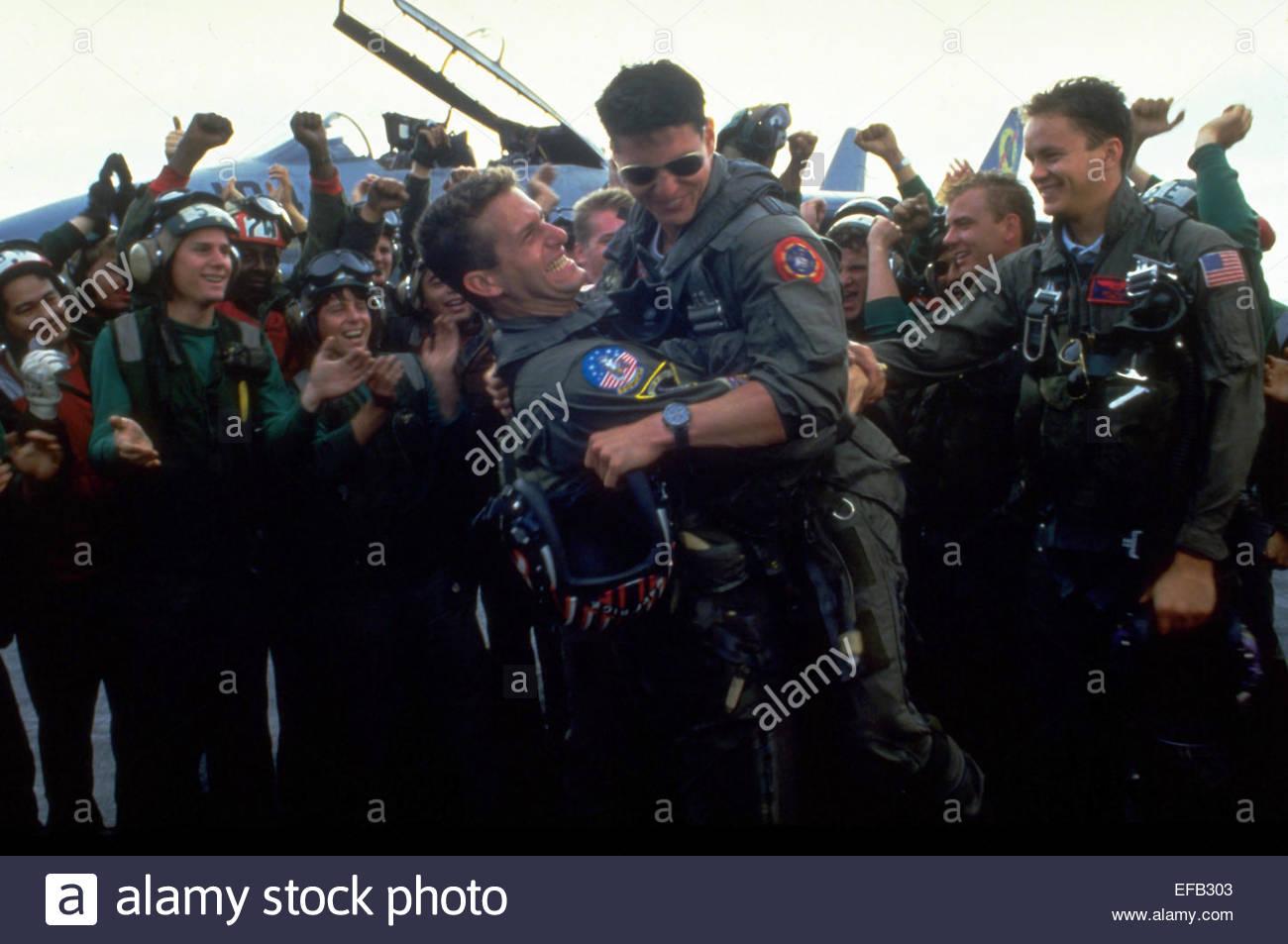 RICK ROSSOVICH TOM CRUISE & TIM ROBBINS TOP GUN (1986 ...