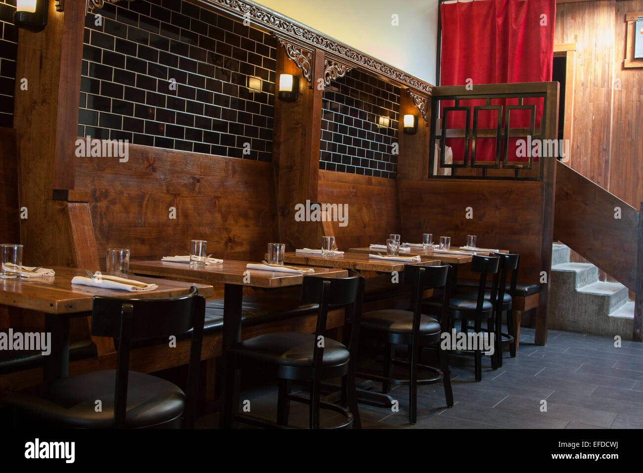 Interior of the modern asian restaurant osmanthus in - Oakland community college interior design ...