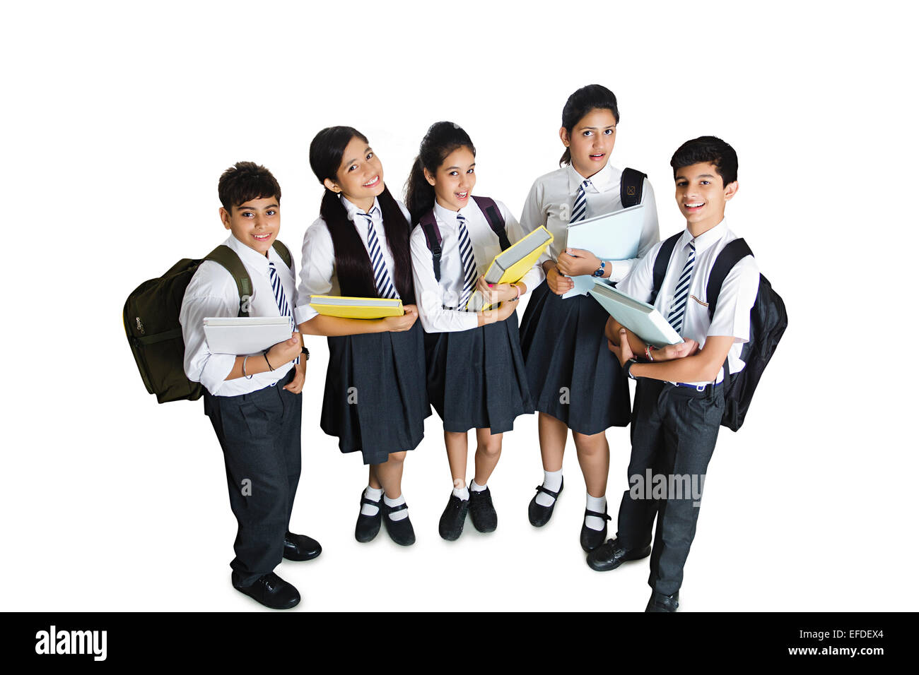 indian school students friends group Stock Photo, Royalty ...