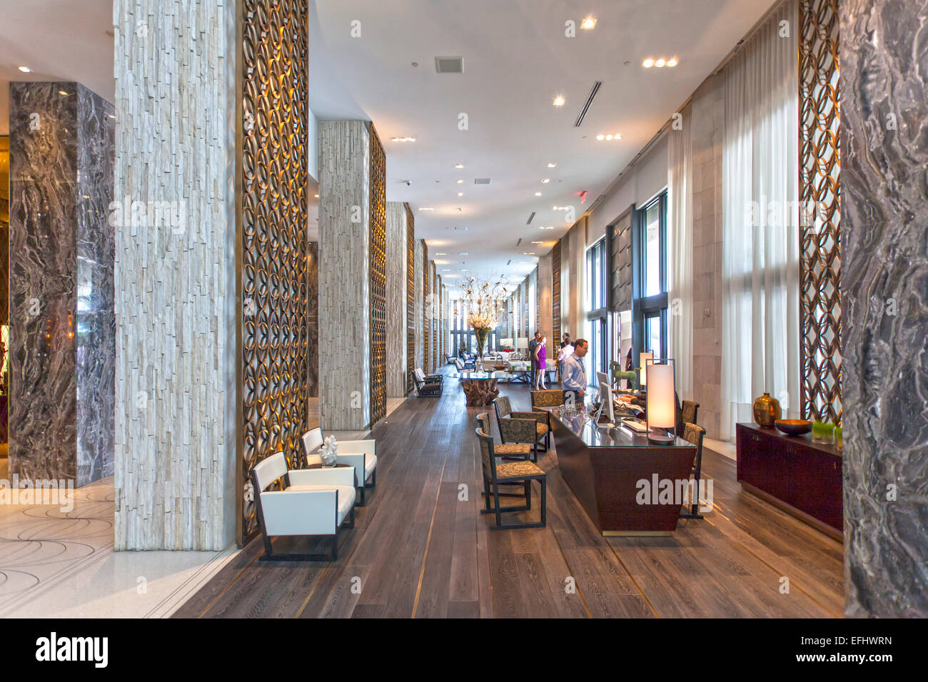 Lobby of luxury resort w hotel of starwood hotel chain for Design hotel chain