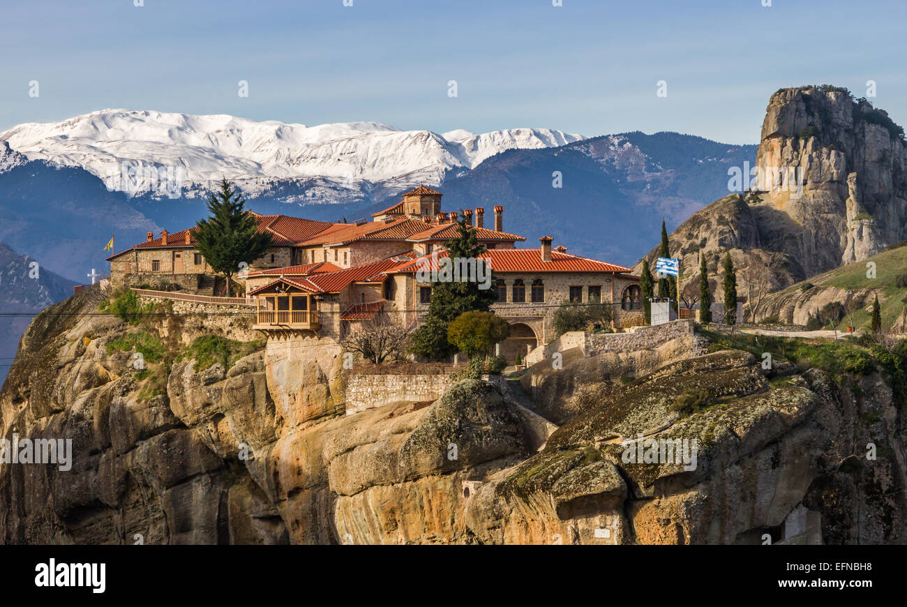 The Great Meteoron Monastery, in the complex of Meteora ...