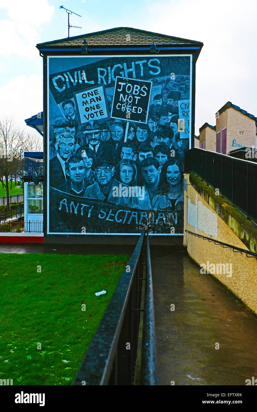 Mural bloody sunday derry stock photo royalty free image for Bloody wall mural