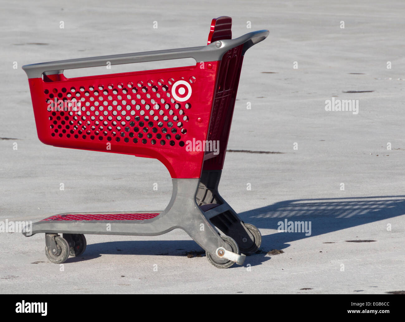 lone-target-store-shopping-cart-in-a-par