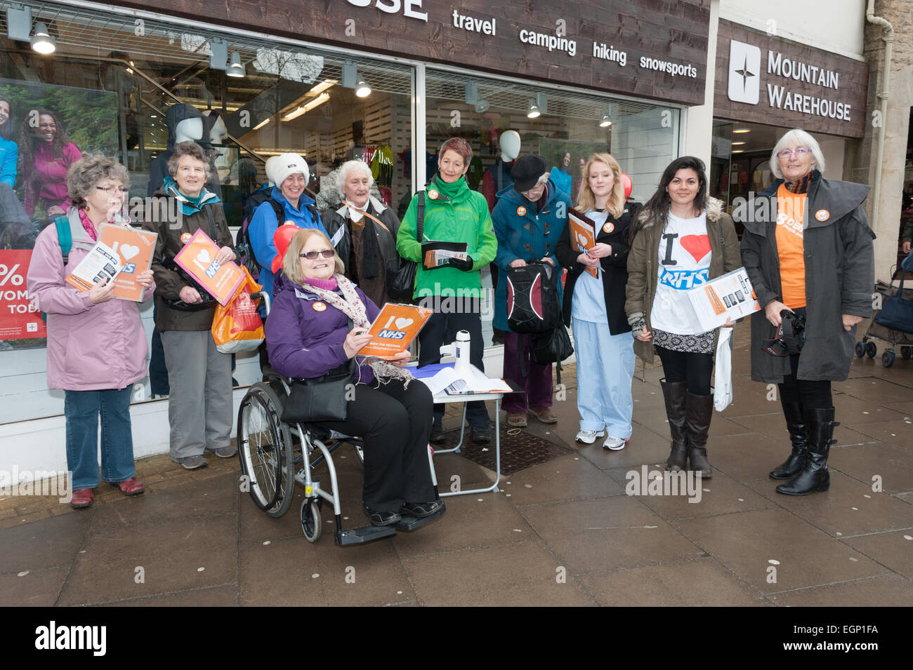 Witney Oxfordshire Uk 28th February 2015 Campaign