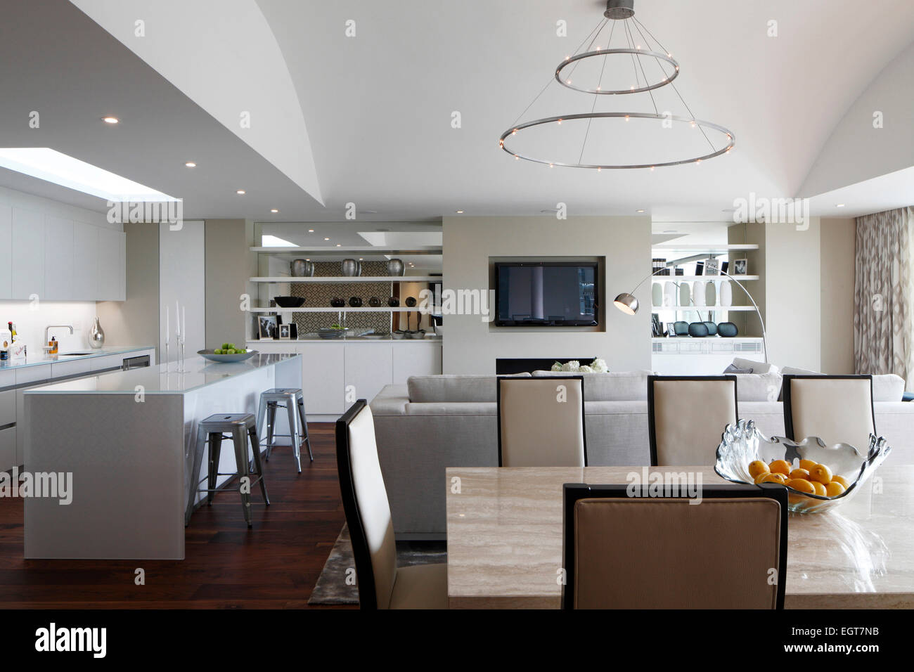 view from dining area towards kitchen and living area. Black Bedroom Furniture Sets. Home Design Ideas