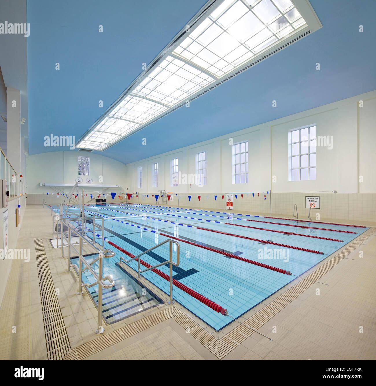 Swimming Pool At Ironmonger Row Baths Refurbishment Islington Stock Photo Royalty Free Image