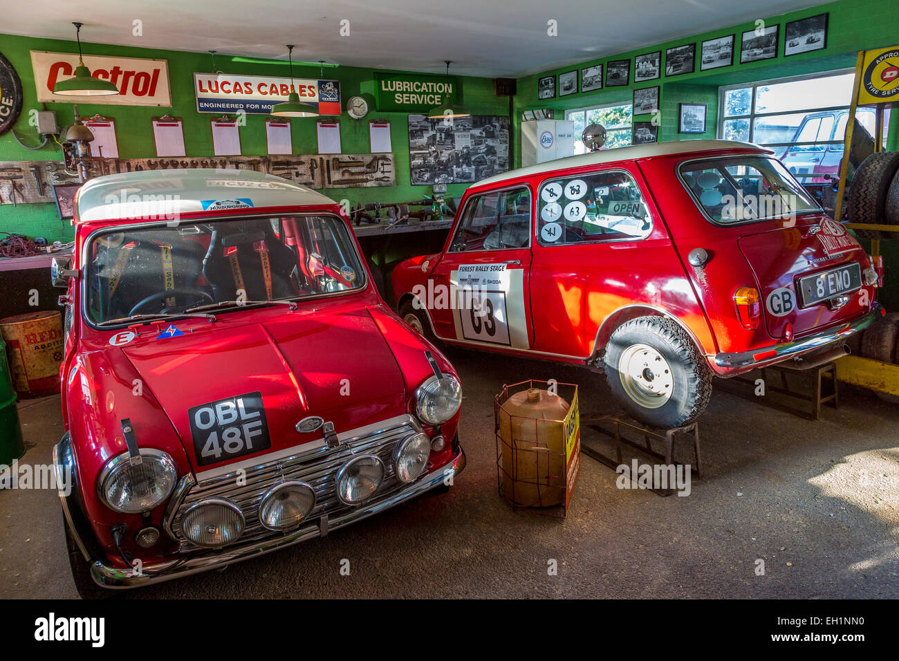1963 and 1967 works rally mini cooper s cars 8emo and obl48f in the stock photo royalty free. Black Bedroom Furniture Sets. Home Design Ideas
