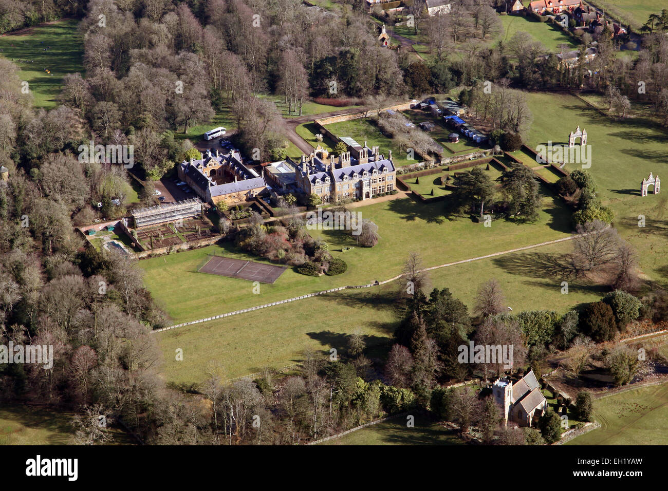 Aerial view of holdenby house near northampton uk stock for See images of my house