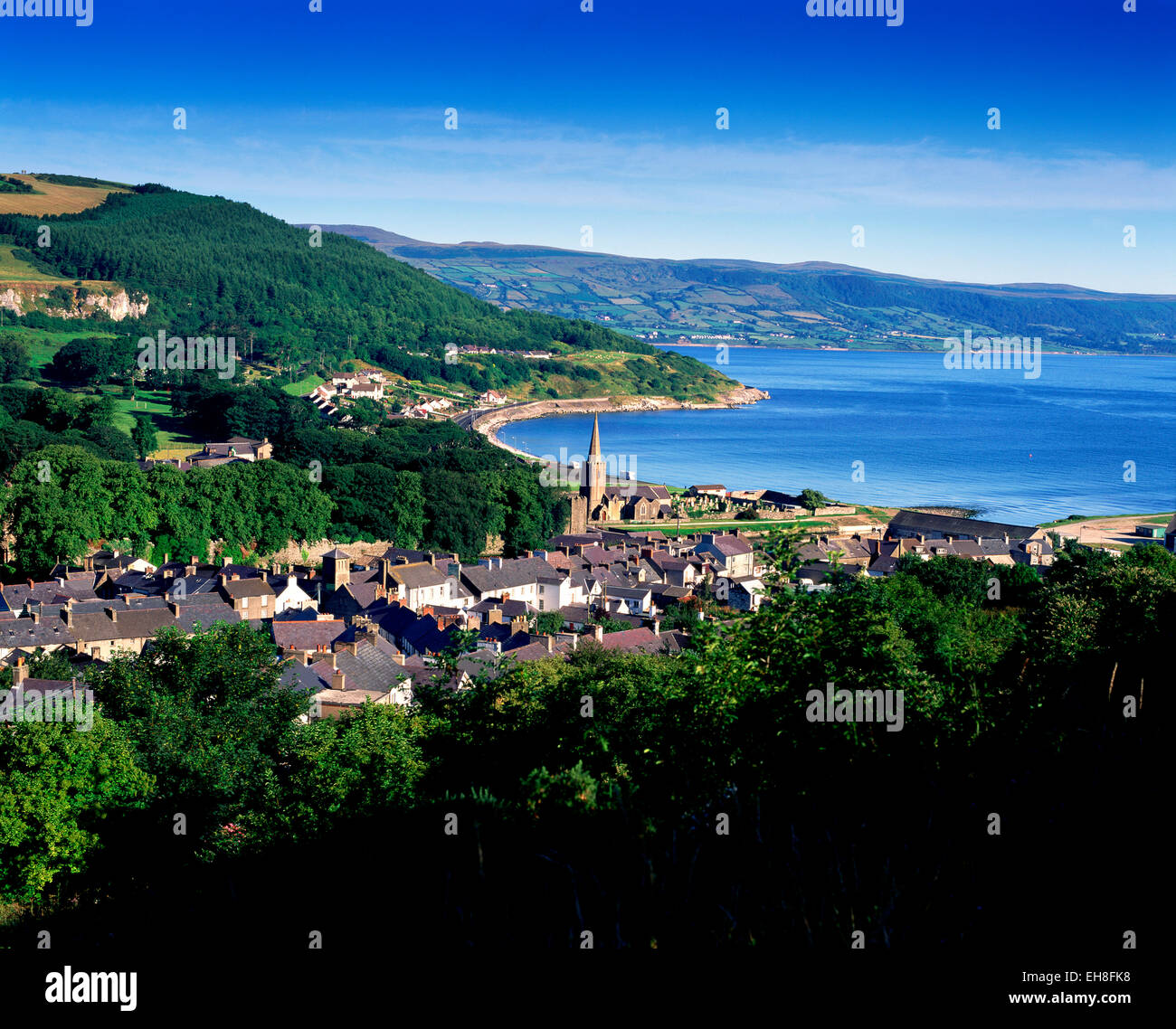 glenarm antrim coast co antrim northern ireland stock photo royalty free image 79478540 alamy. Black Bedroom Furniture Sets. Home Design Ideas