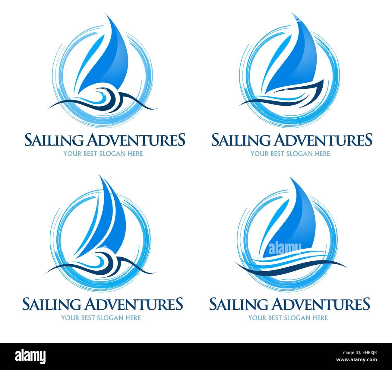 sailing boat logo creative vector design of a sailing Fax Icon Vector Website Icon Vector