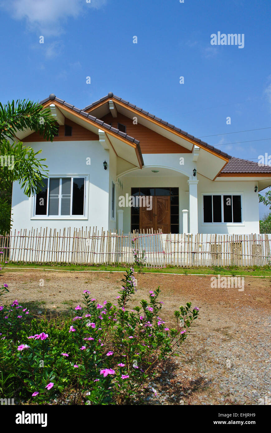 Modern Thai House Bungalow Thailand Stock Photo Royalty