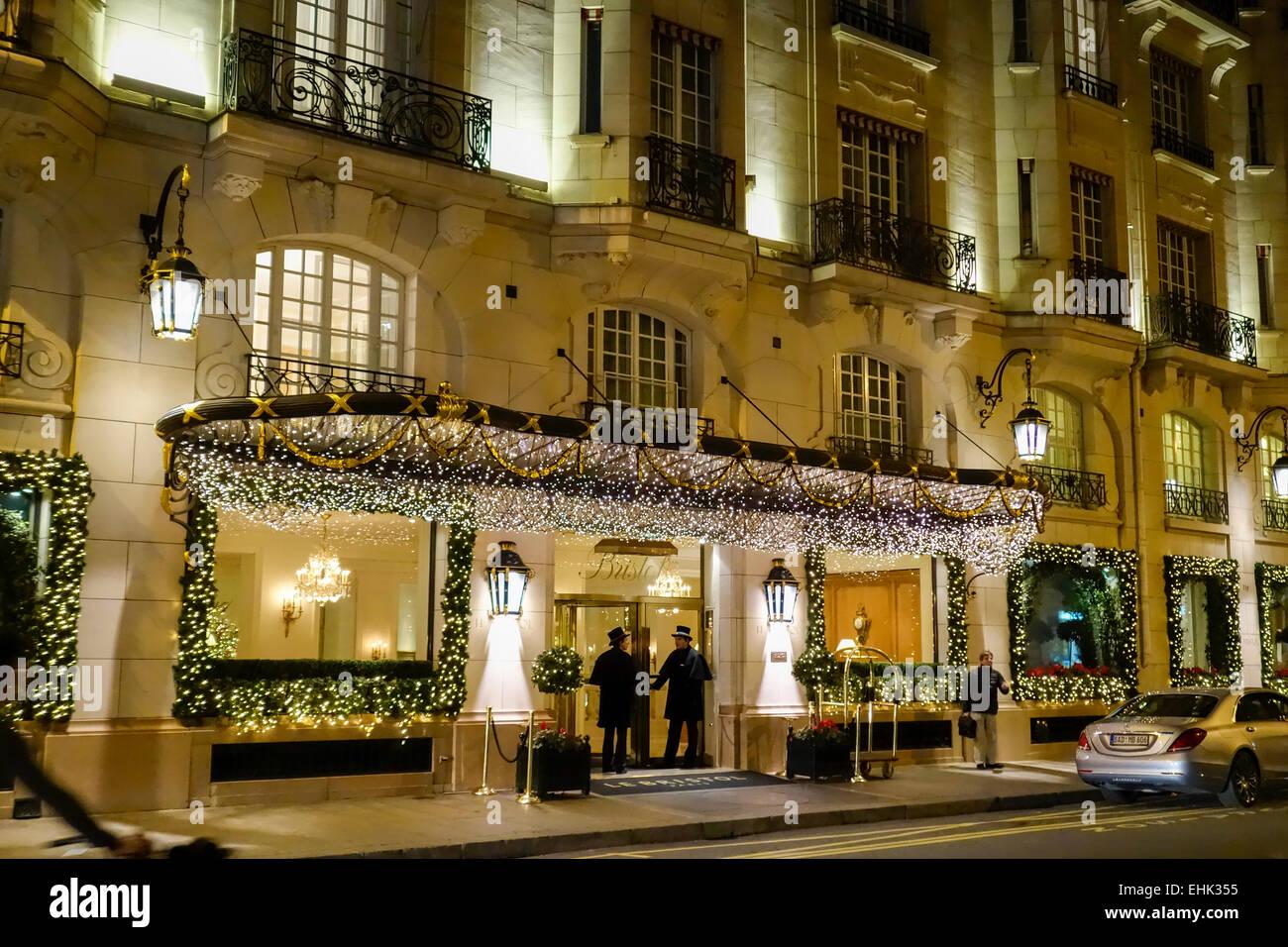 christmas decorations at hotel le bristol paris stock photo royalty free image 79710209 alamy. Black Bedroom Furniture Sets. Home Design Ideas