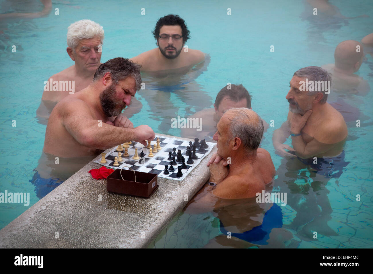 Men playing with
