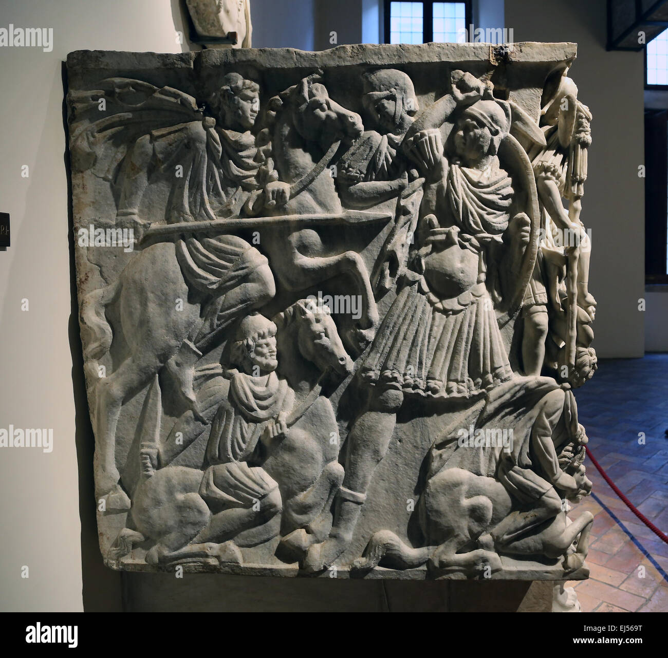 battle of romans and barbarians ludovisi sarcophagus The great ludovisi sarcophagus the identity of the deceased, who must be the young hero in the centre of the battle scene between romans and barbarians.