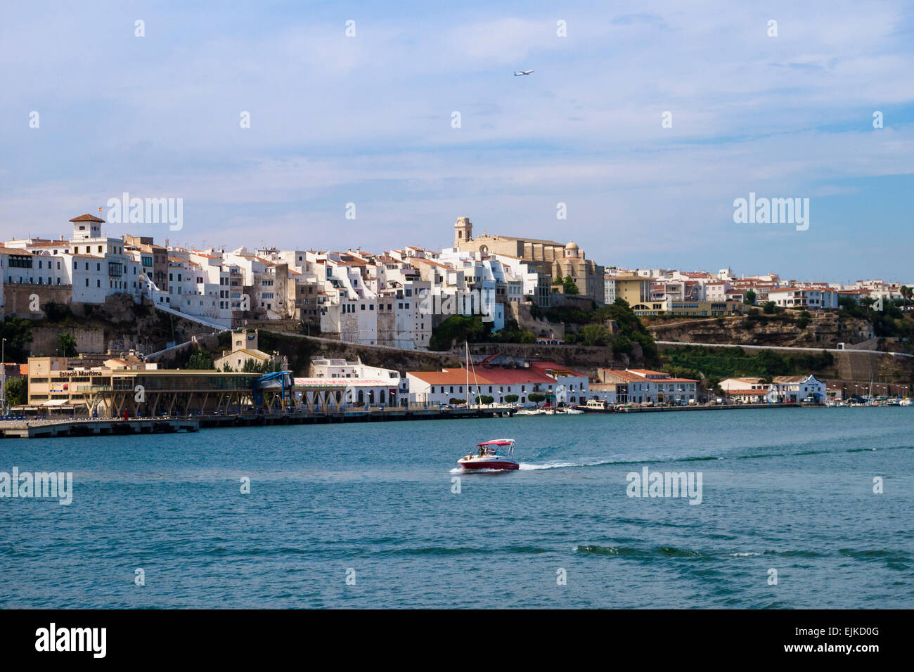 Port and old town of Mahon, Menorca, Spain - Europe Stock Photo, Royalty Free...