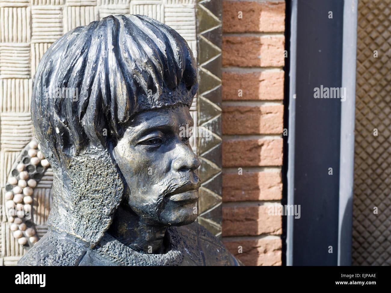 shaka zulu restaurant statue stock photo royalty free