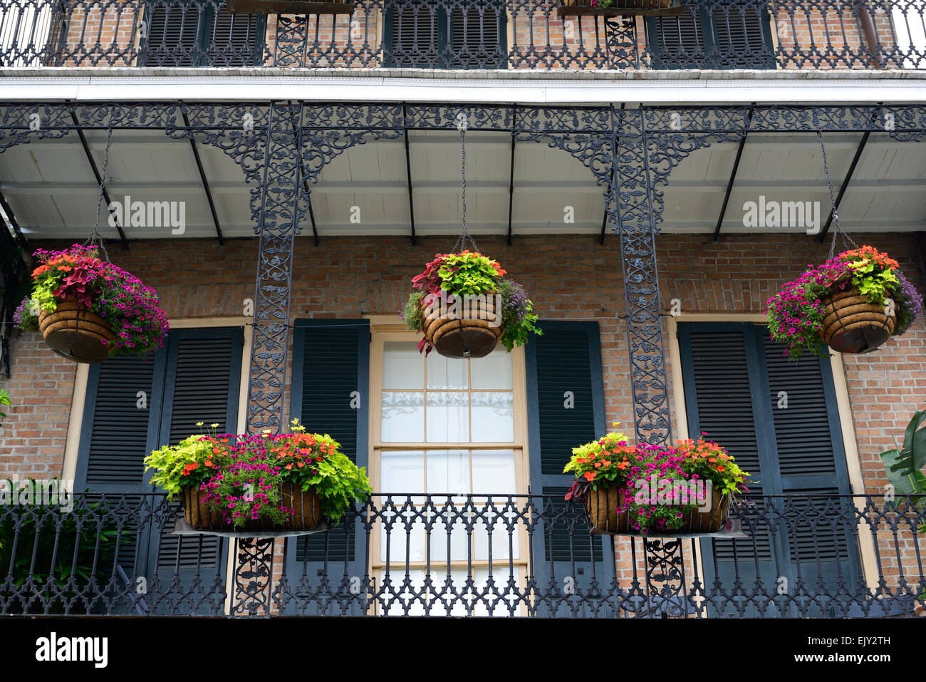 Hanging baskets planters balcony balconies decorate french - Hanging baskets for balcony ...