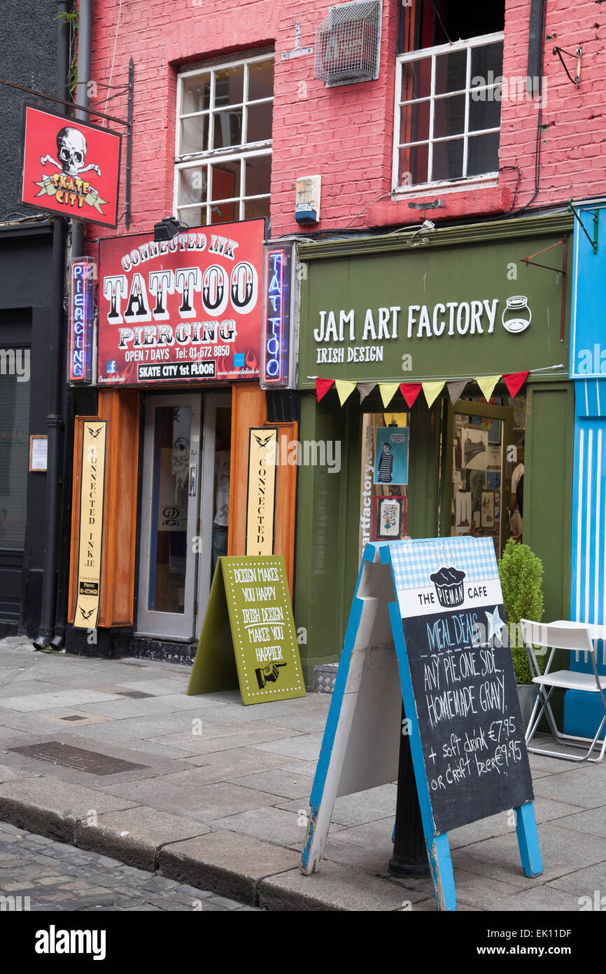 Tattoo shop jam art design factory and pieman cafe in for Tattoo shops dublin