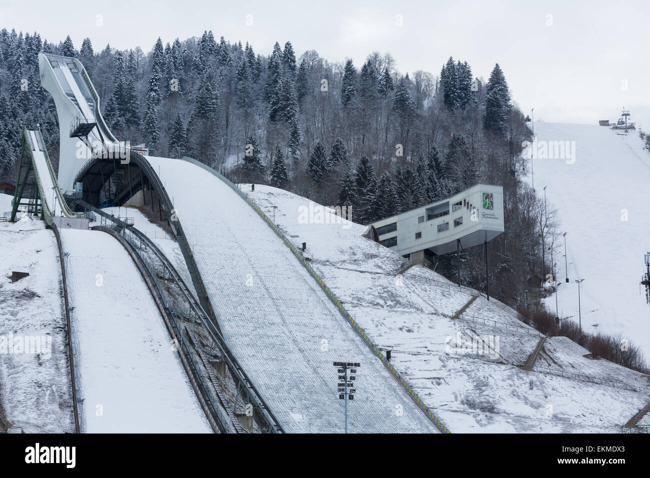 The Ski Jump at the site of the 1936 Winter Olympics at ...