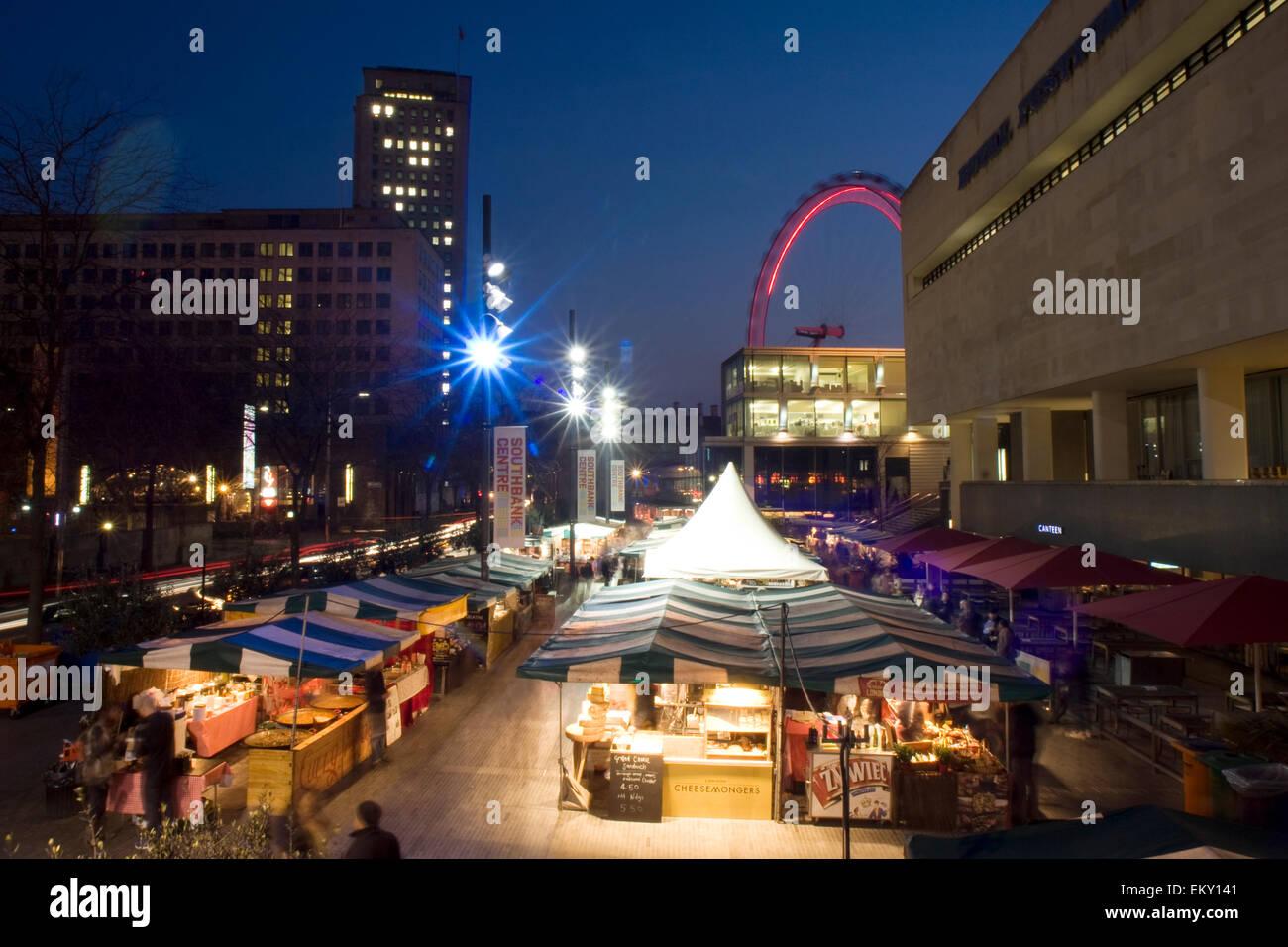 Royal Festival Hall food market, South Bank, London, UK Stock Photo