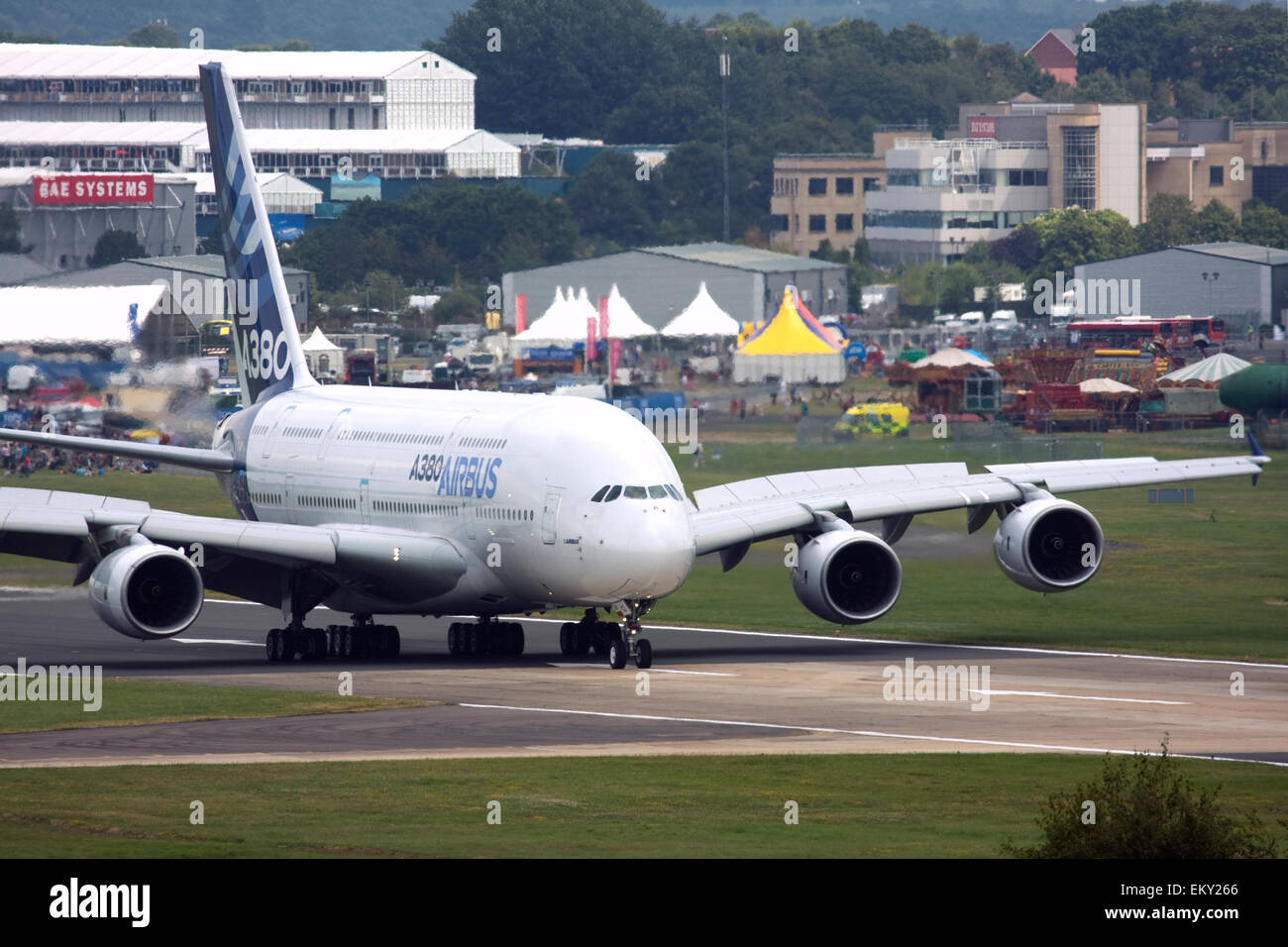 Airbus A380 at Farnborough International Airshow 2015 Stock Photo
