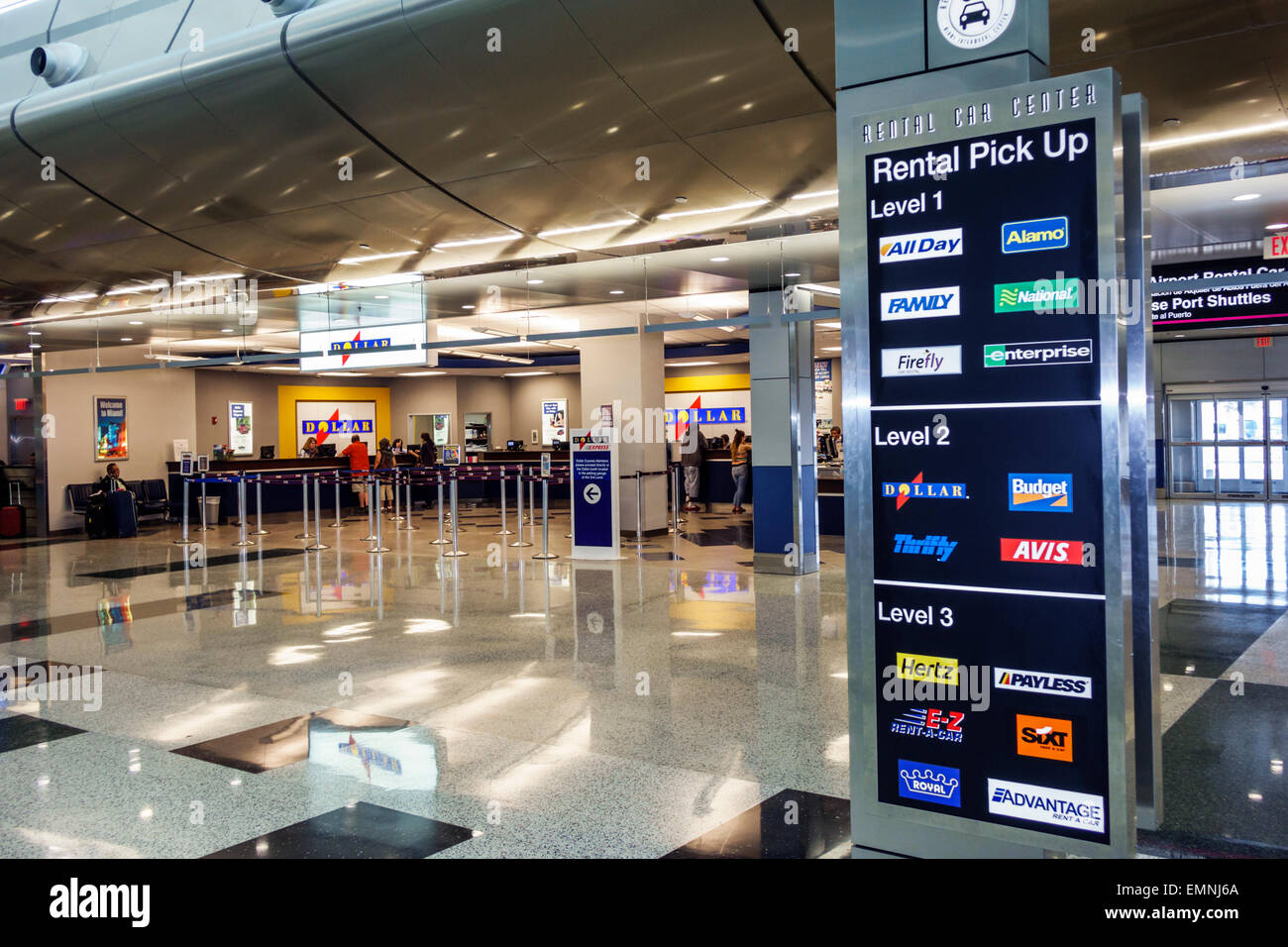 Orlando Airport Car Rental Counter Location