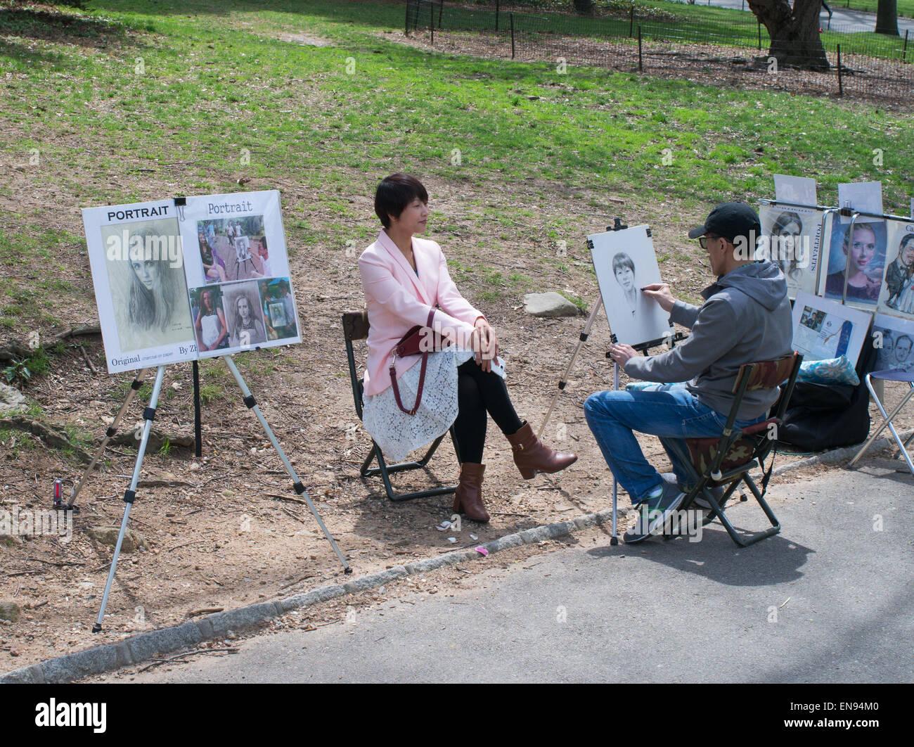street-artist-drawing-a-portrait-sketch-