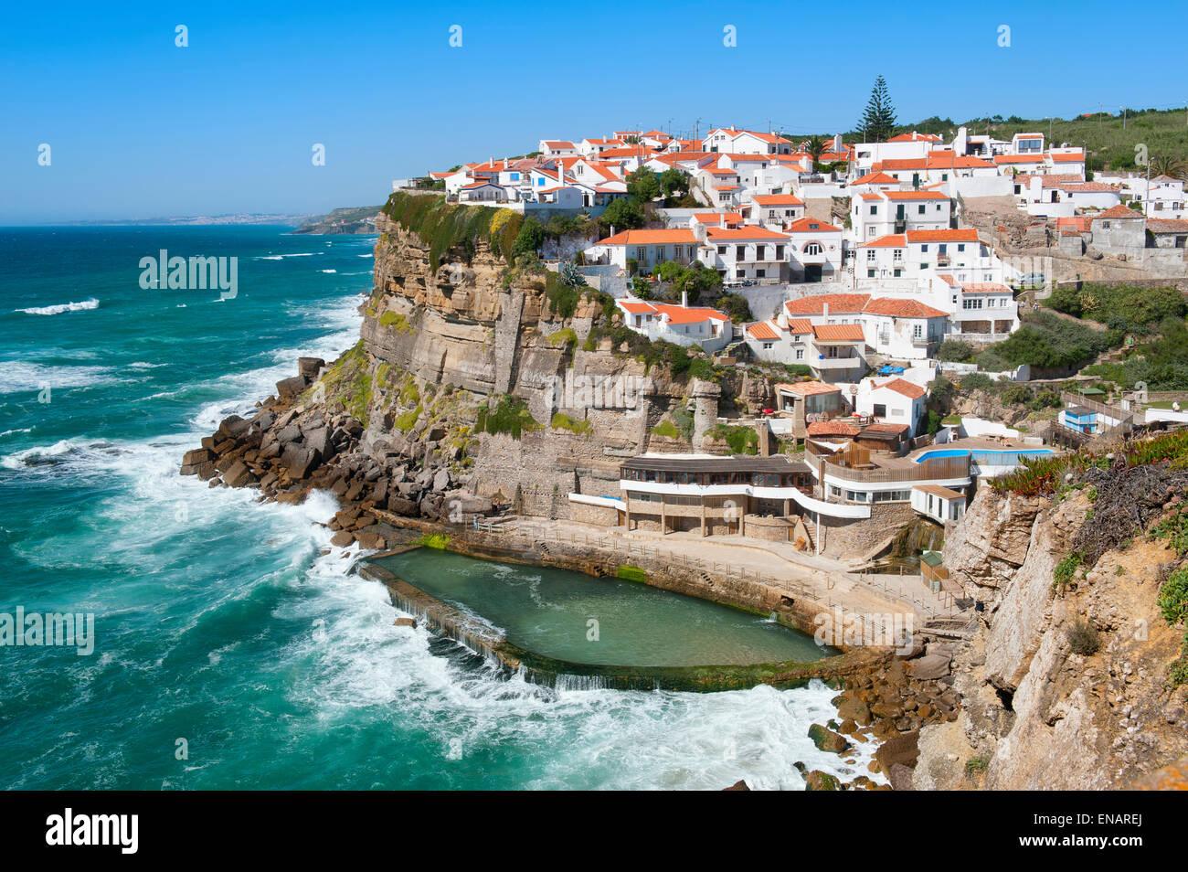 Natural pool azenhas do mar lisbon coast portugal - Natura portugal ...