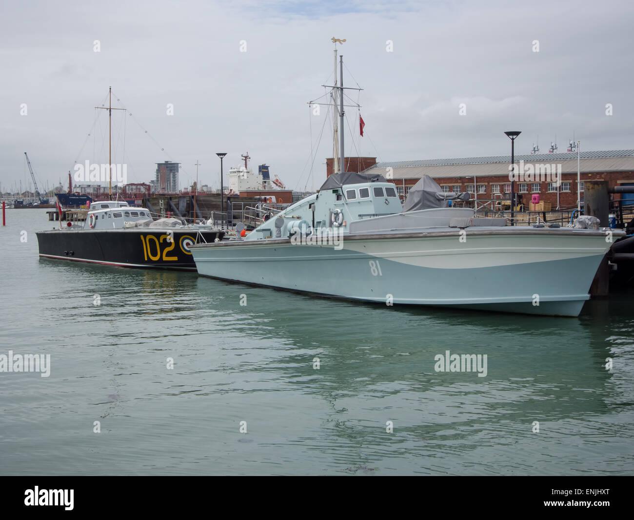 Motor Torpedo Boat 102 And Motor Gun Boat 81 At Portsmouth