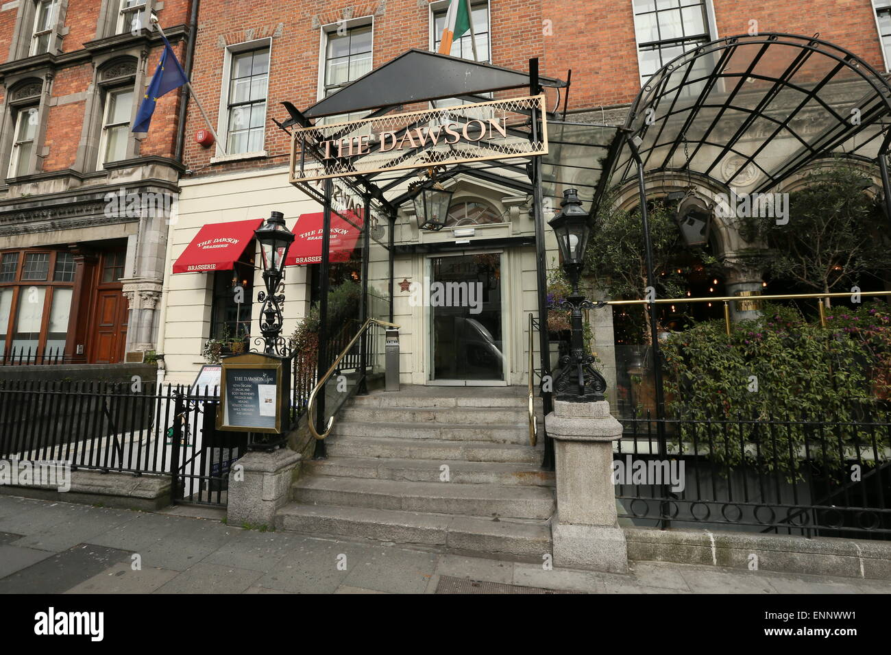 Image Of The Dawson Hotel On Dawson Street In Dublin City Centre The Stock Photo Royalty Free