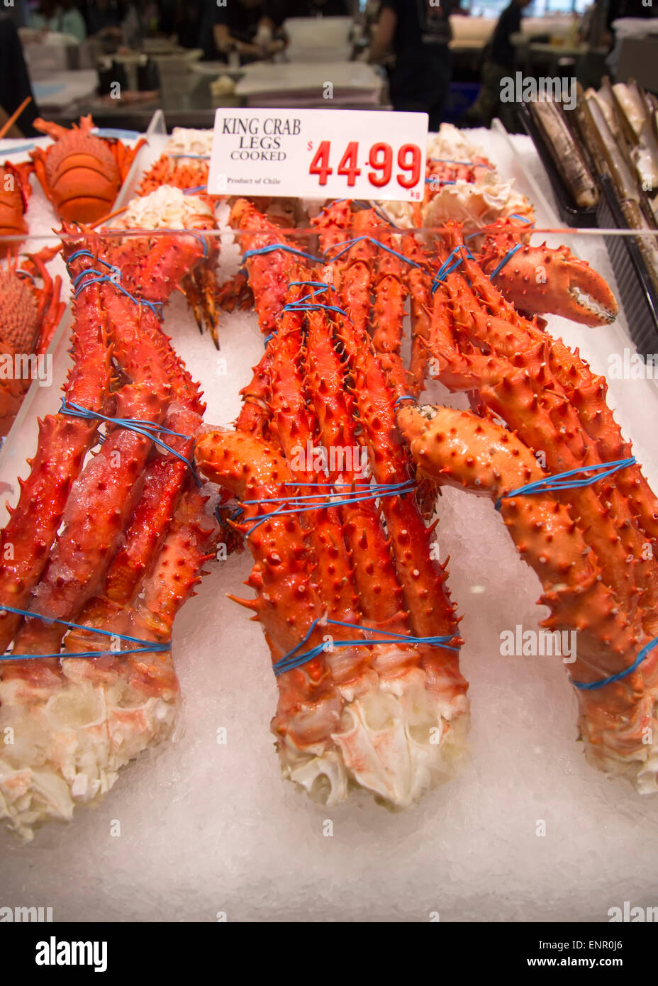 King crab legs on the sydney fish market stock photo for King fish market
