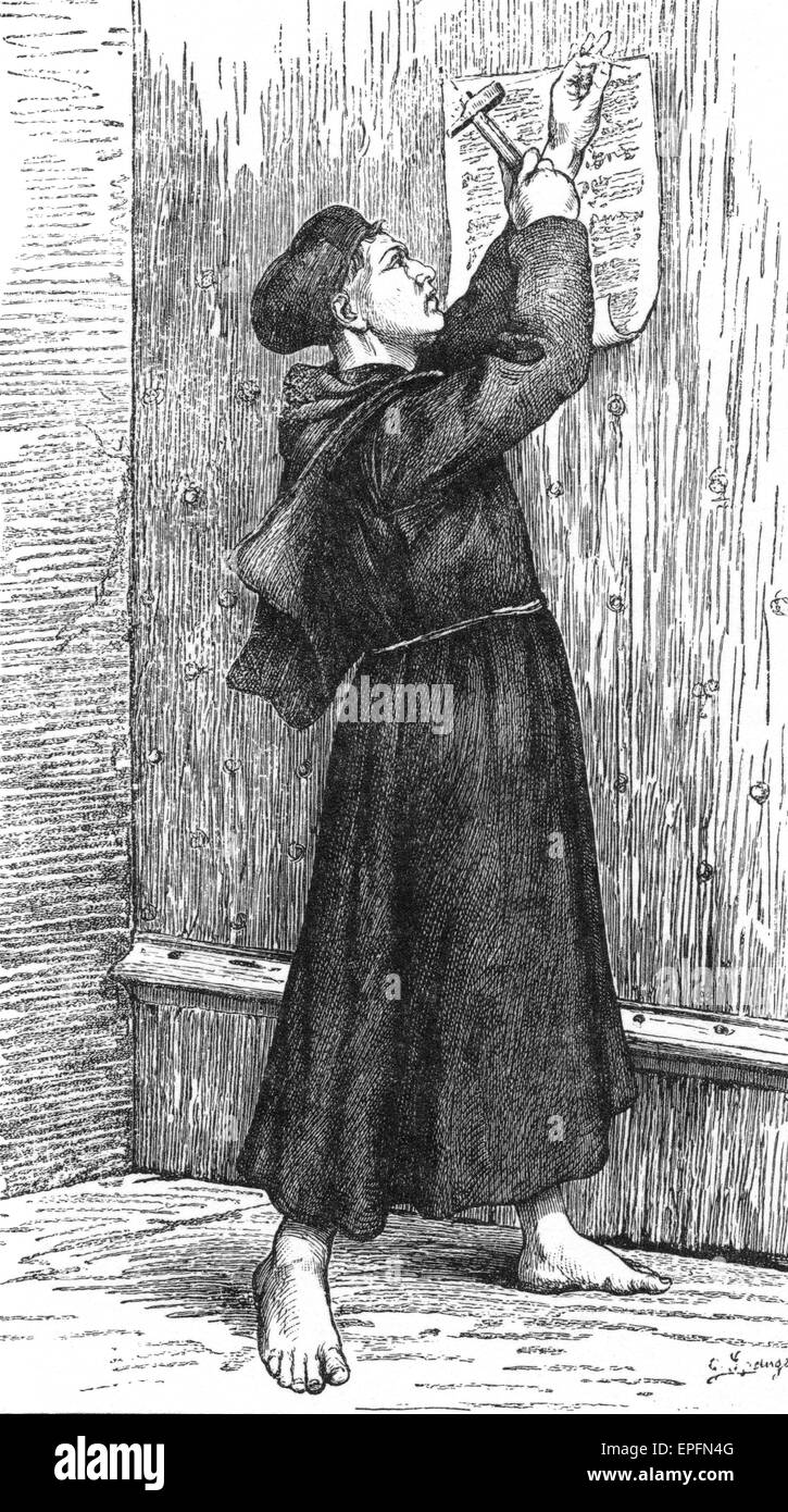 thesis on church door In 1517, martin luther posted his ninety-five theses to the door of a catholic church for everyone to view in wittenberg, germany his ninety-five theses were his thoughts about the catholic church and its teachings.