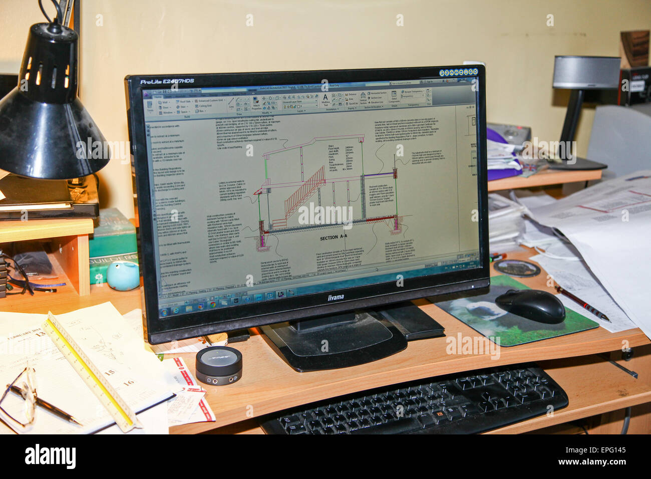 an-architects-plan-shown-using-autocad-a