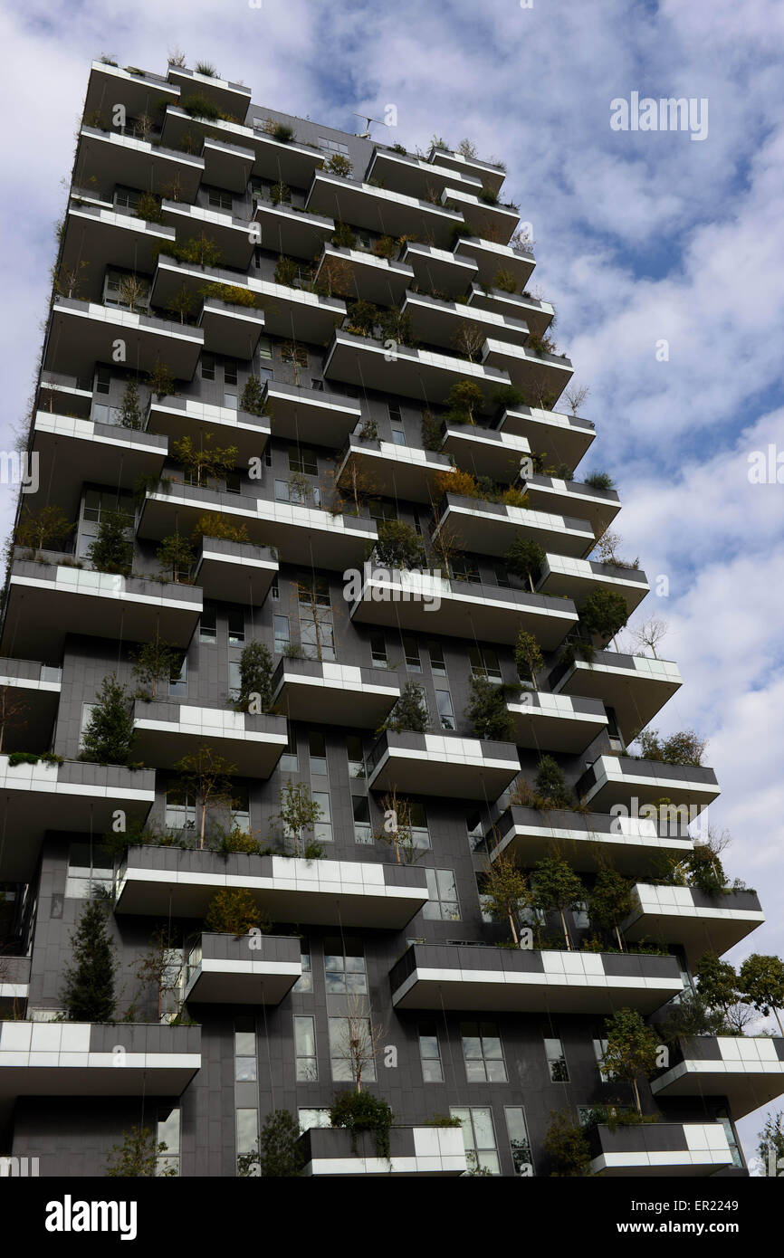 Bosco Verticale Vertical Forest A Pair Of Residential Towers In Stock Photo Royalty Free
