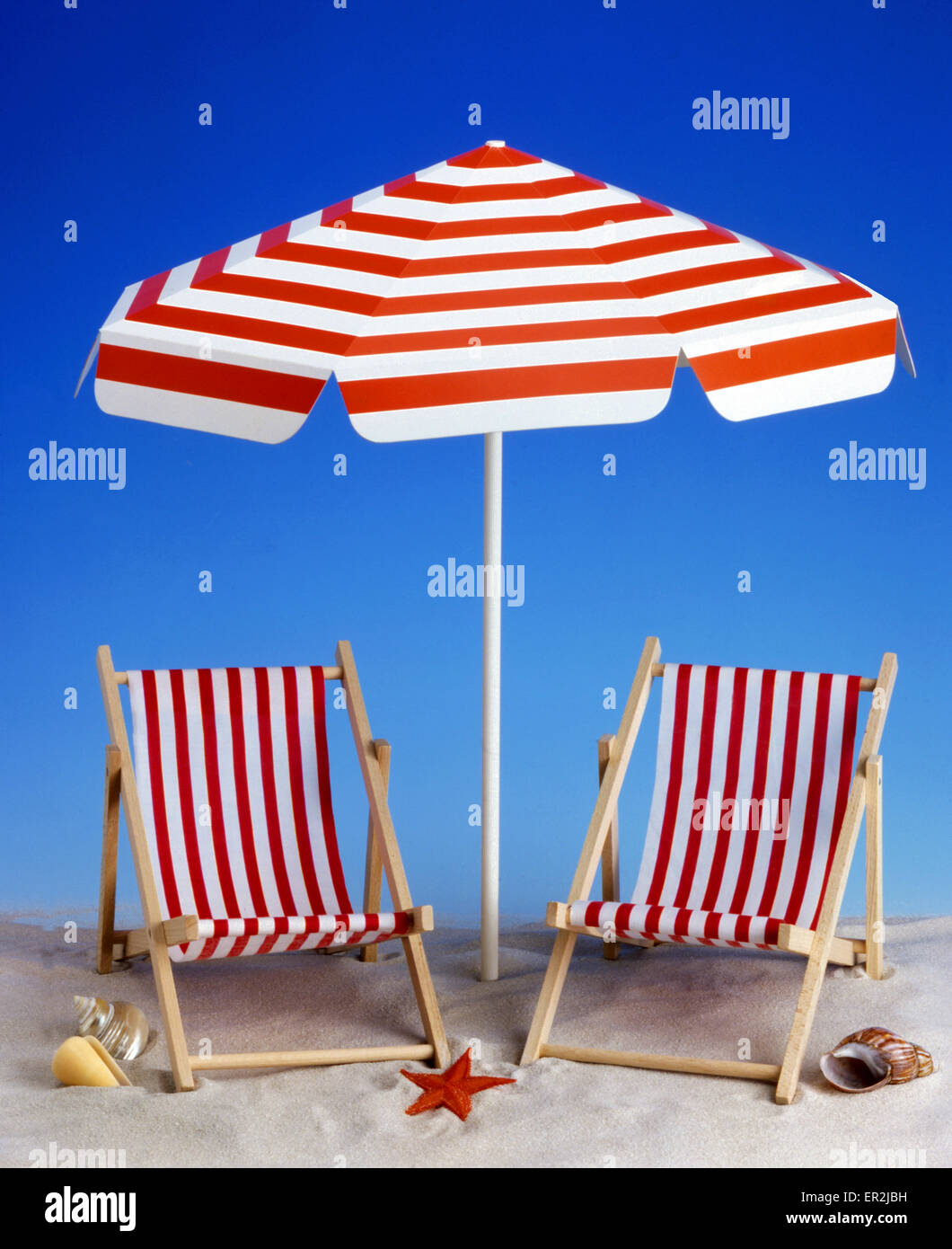 Strand Liegestuhl Liegestuehle Sonnenschirm Dekoration