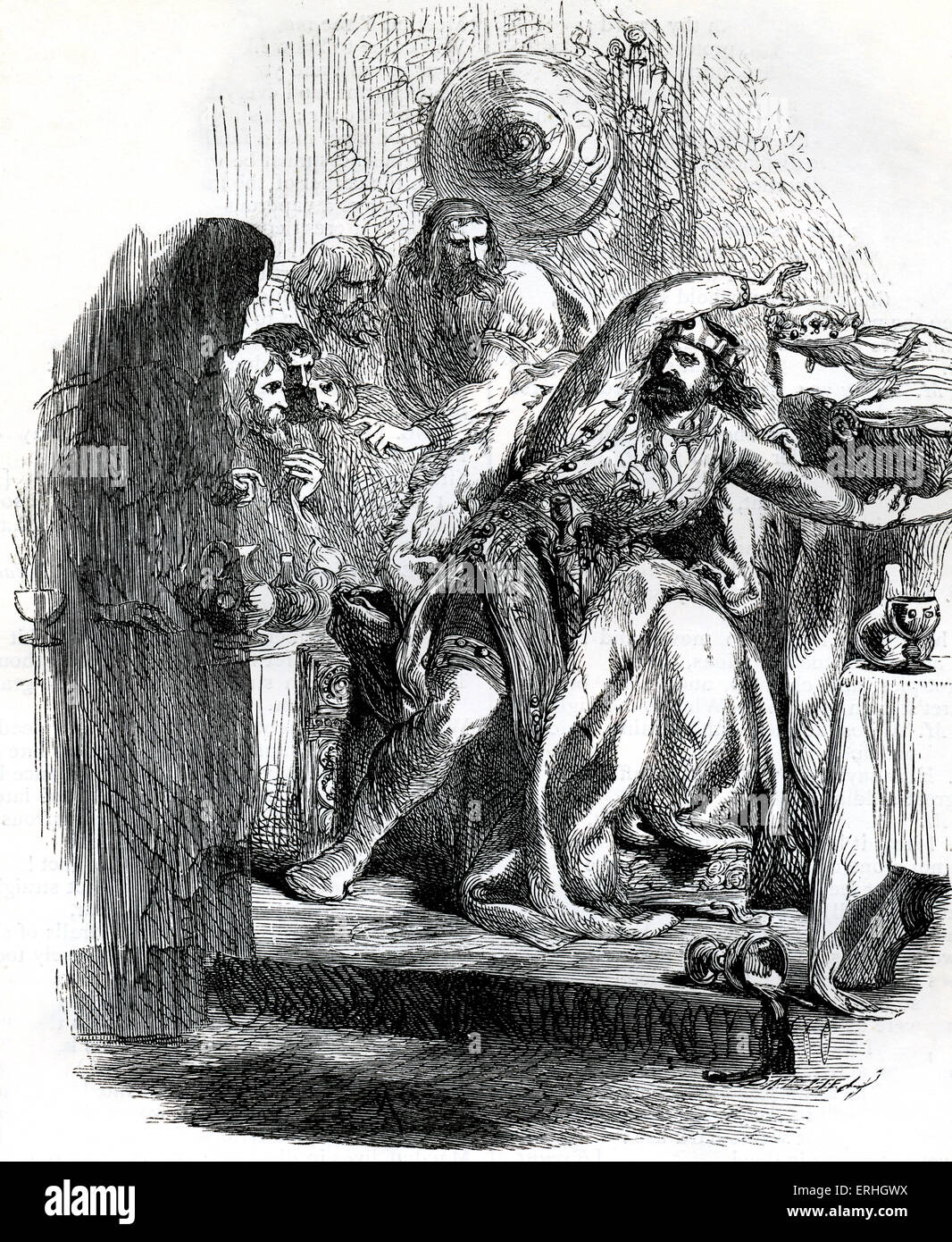 the scene of the banquet in macbeth by william shakespeare Macbeth clearly becomes frighteningly unhinged during the banquet scene he  is hallucinating, which indicates that the guilt he feels has taken control of his.