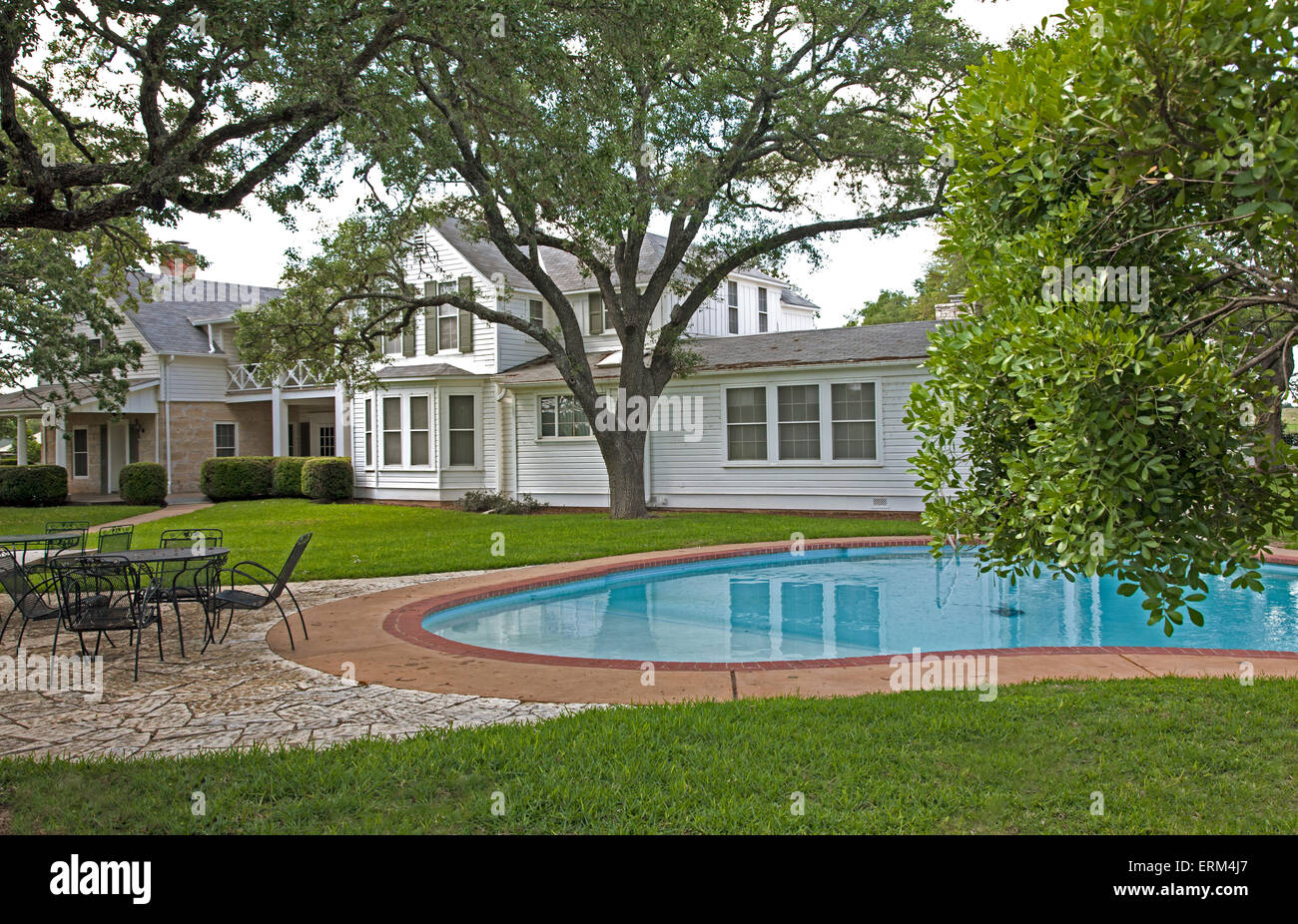 The Swimming Pool At The Texas White House Ranch Home Of Lyndon B Stock Photo Royalty Free