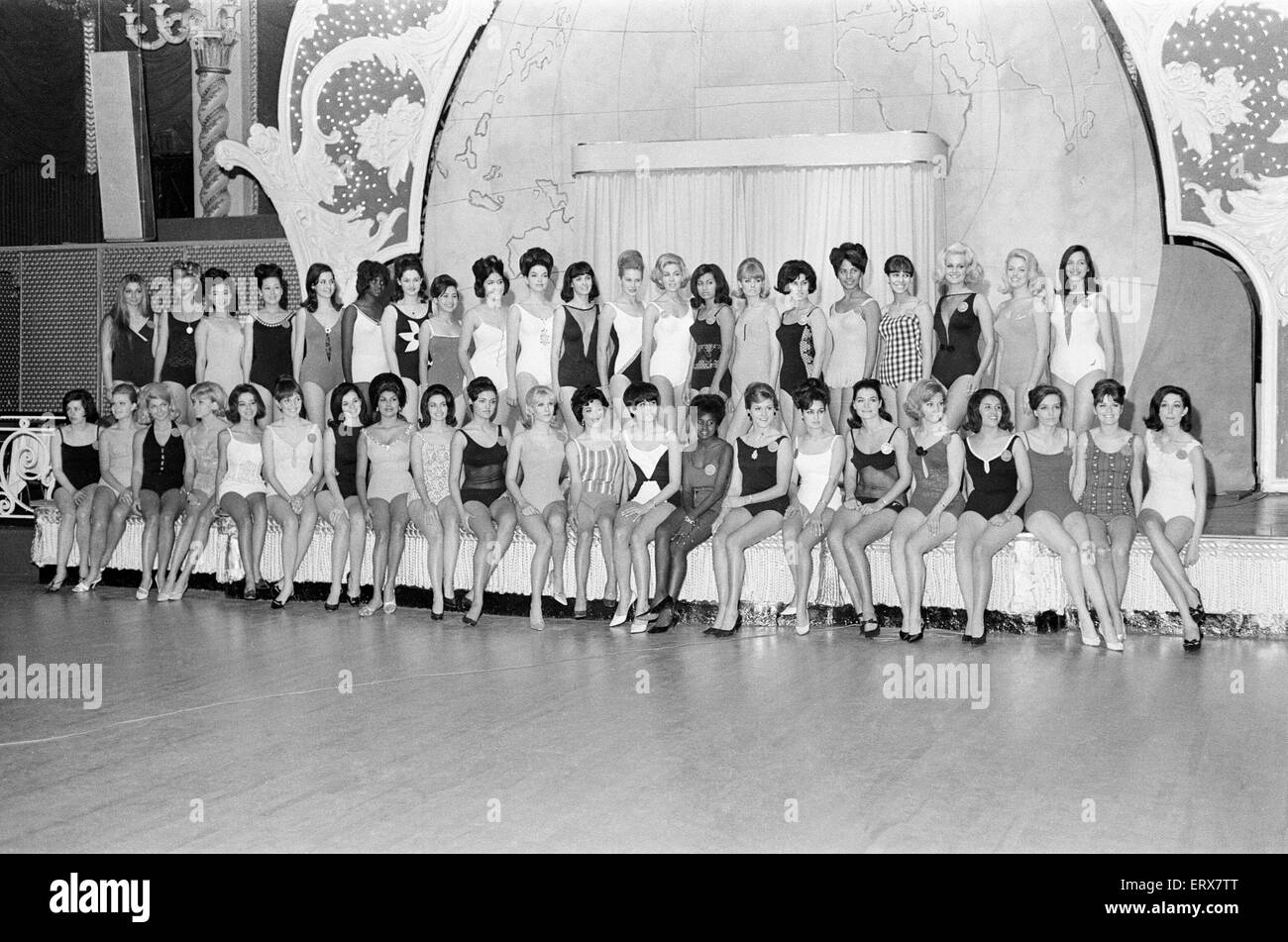 Miss World Contestants, Photo-call at the Lyceum Ballroom ...