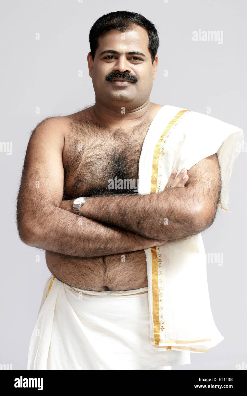 man wearing south indian dress india asia mr 790e stock photo royalty free image 83618399 alamy. Black Bedroom Furniture Sets. Home Design Ideas