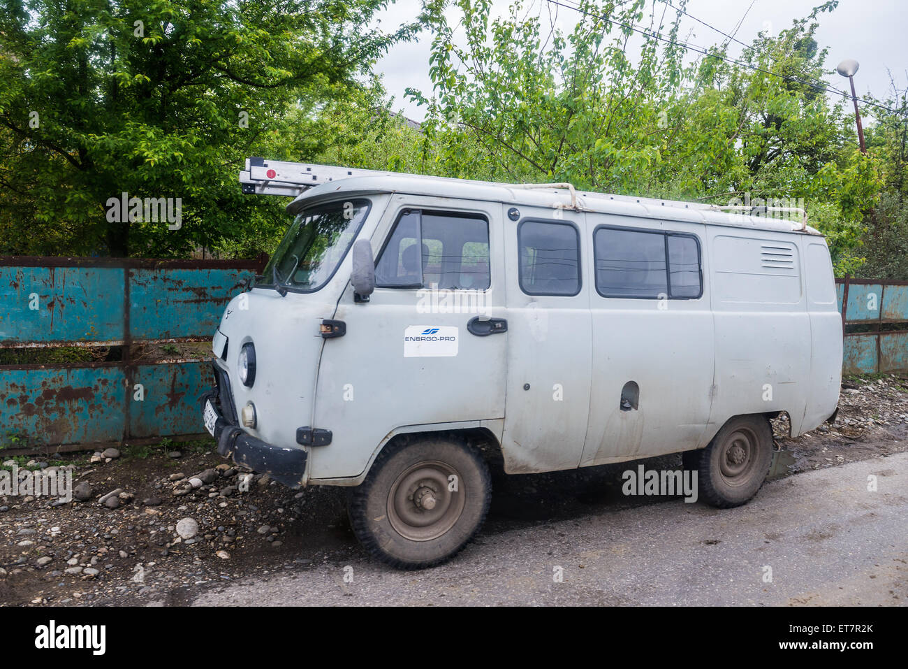 russian uaz 452 minibus in georgia stock photo royalty free image 83764987 alamy. Black Bedroom Furniture Sets. Home Design Ideas