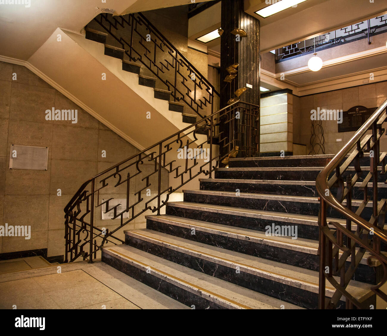 art deco staircase hornsey town hall london stock photo royalty free image 83944211 alamy. Black Bedroom Furniture Sets. Home Design Ideas