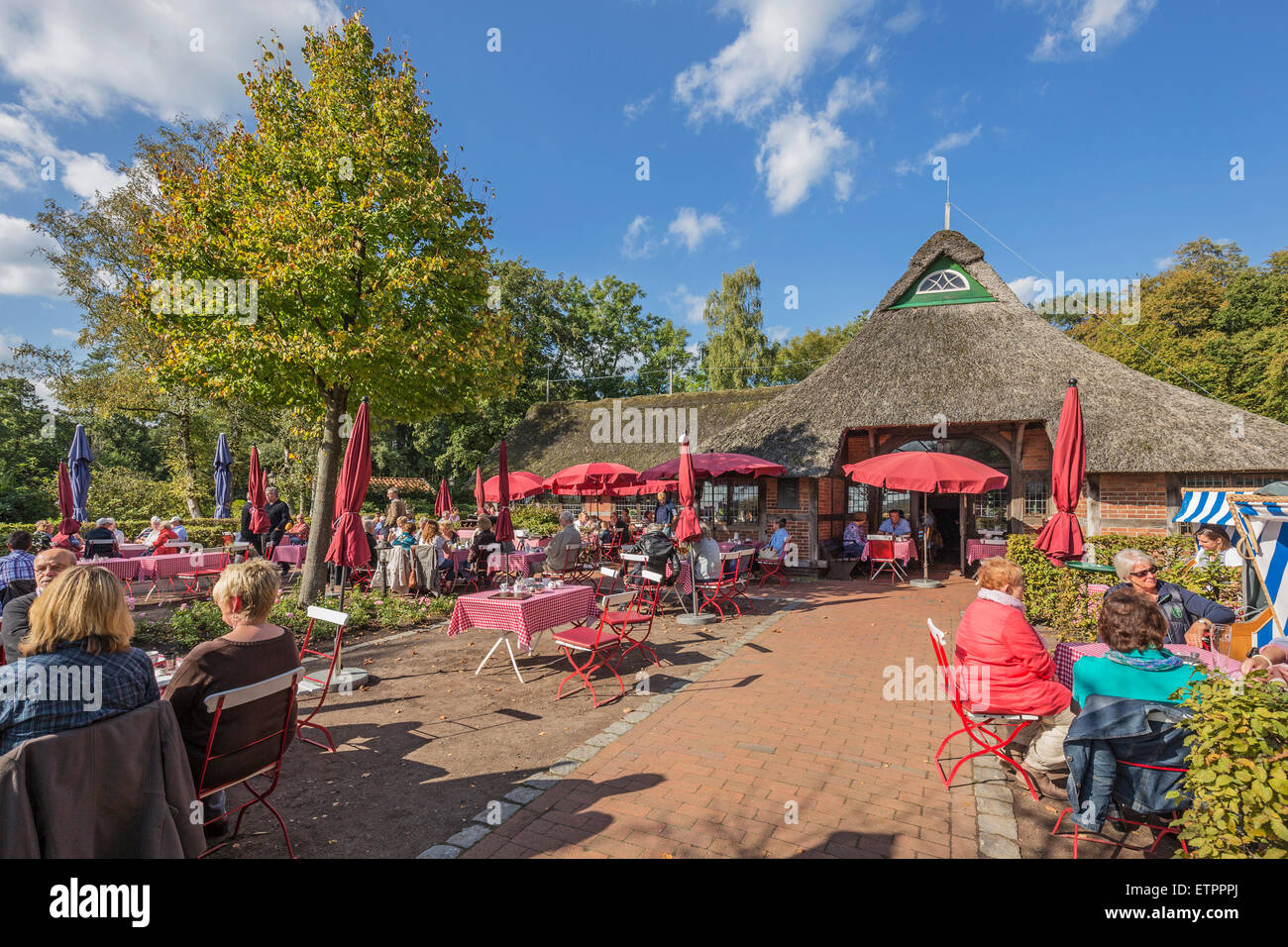 restaurant 39 f hrkroog 39 in dreibergen bad zwischenahn ammerland stock photo royalty free image. Black Bedroom Furniture Sets. Home Design Ideas