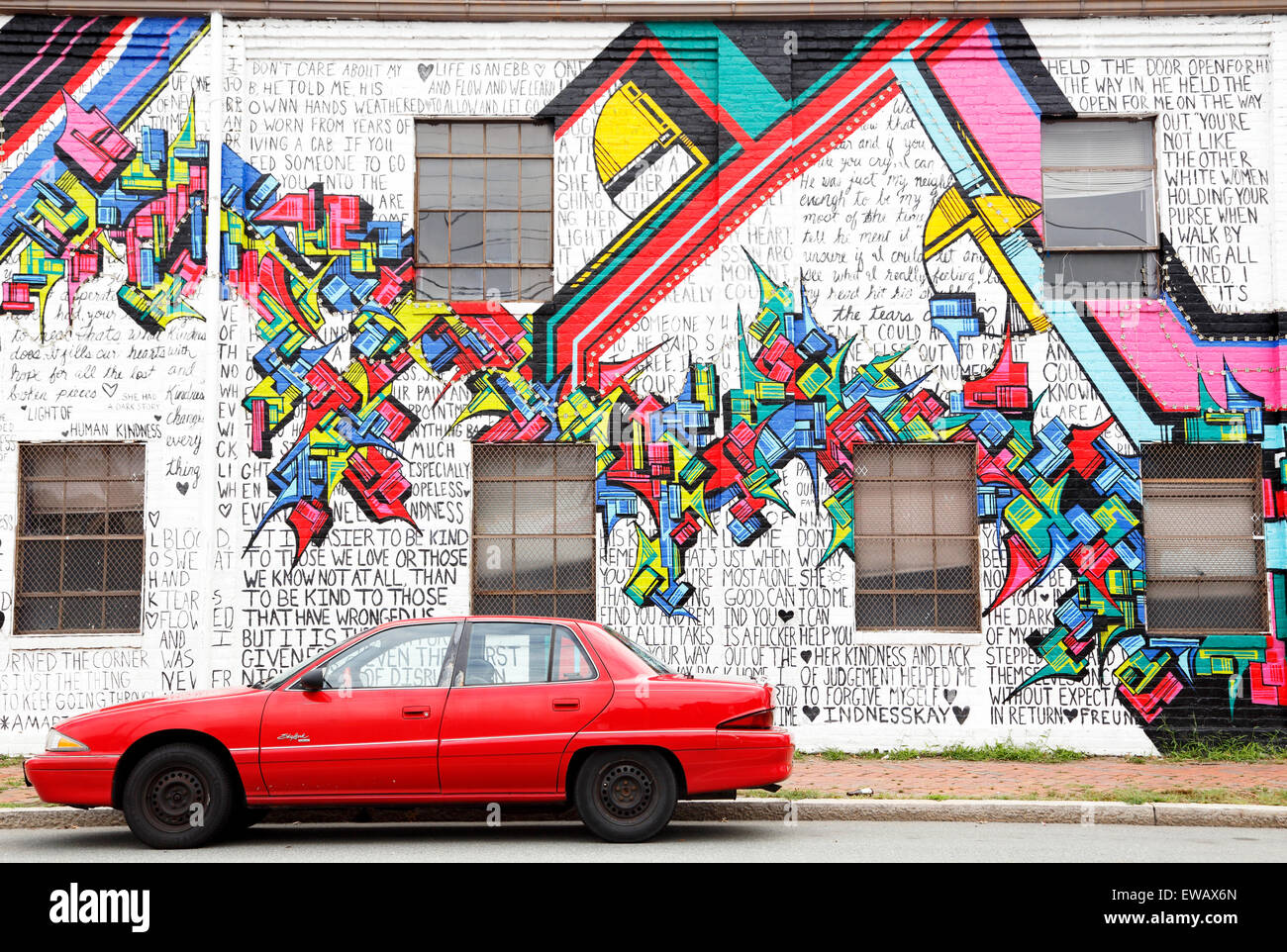 buick-skylark-parked-in-front-of-graffiti-wall-on-west-cary-street-EWAX6N.jpg