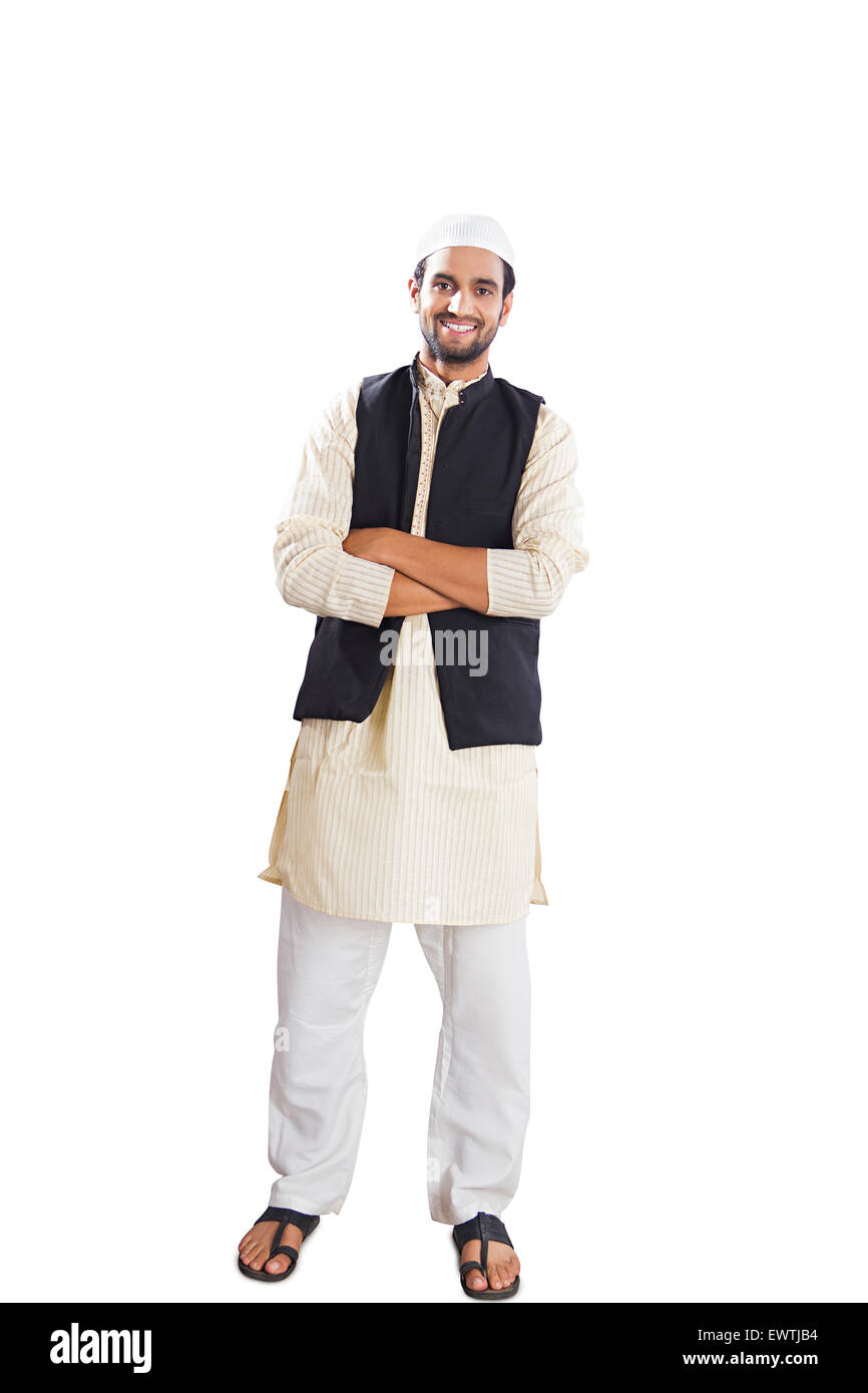 1 indian Muslim man standing pose Stock Photo, Royalty ...