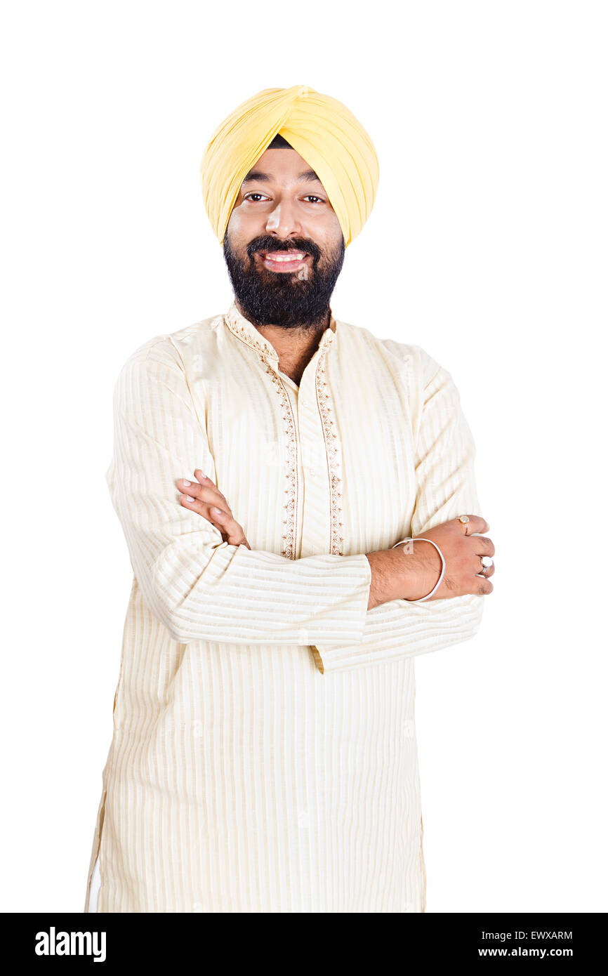 1 Indian Punjabi Man Standing Pose Stock Photo, Royalty ...
