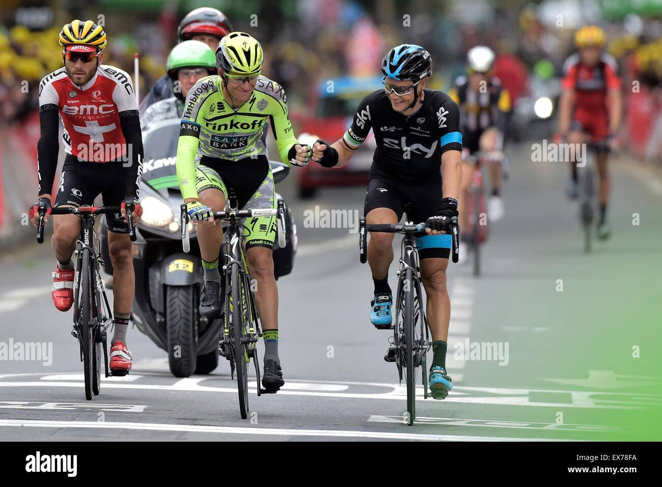 Amiens, France. 08th July, 2015. ROGERS Michael of Tinkoff ...